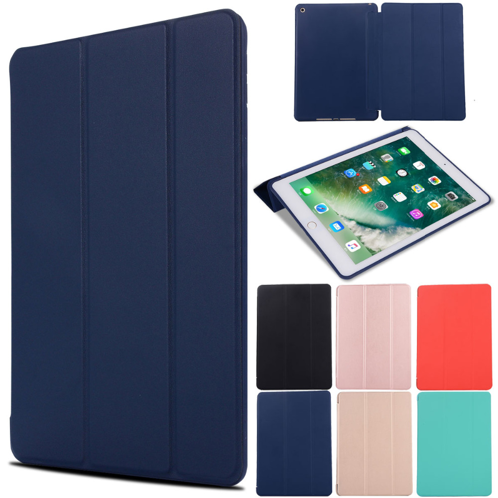 For iPad 9.7 inch 6th 5th Generation 2017 2018 Case Air 1 Air 2 Cover Magnetic Folding Stand PU Leather Smart Silicone Case