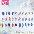 Sweet City 1 Pcs Nail Art Gel Polish Nail Sticker Plume Feather Pinna Water Transfers Stickers Nail Decals Stickers