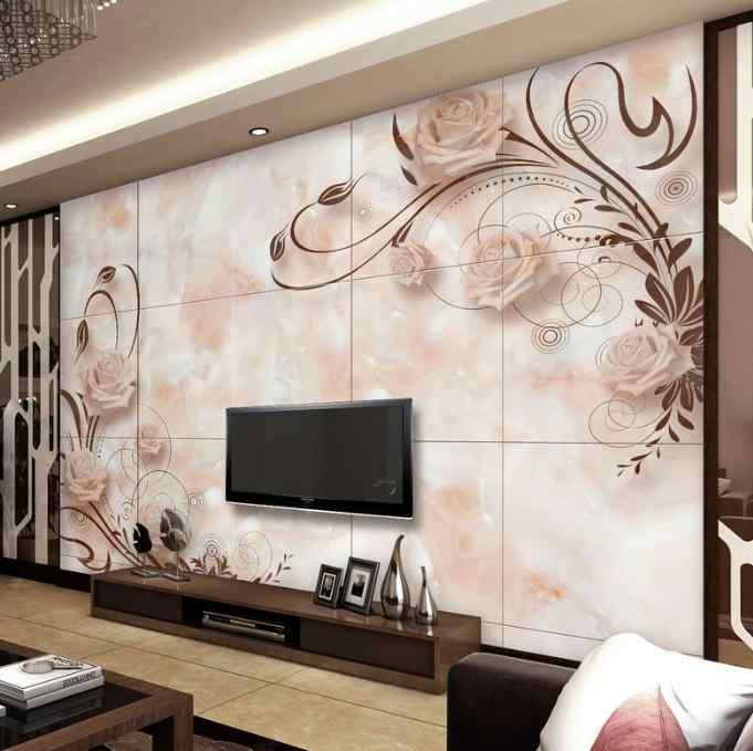 Custom 3D אפקט מודרני אופנה תמונה חיים נייר חדר מיטת חדר שולחניים קיר קיר אירופאי רומנטי השיש אריחי קיר