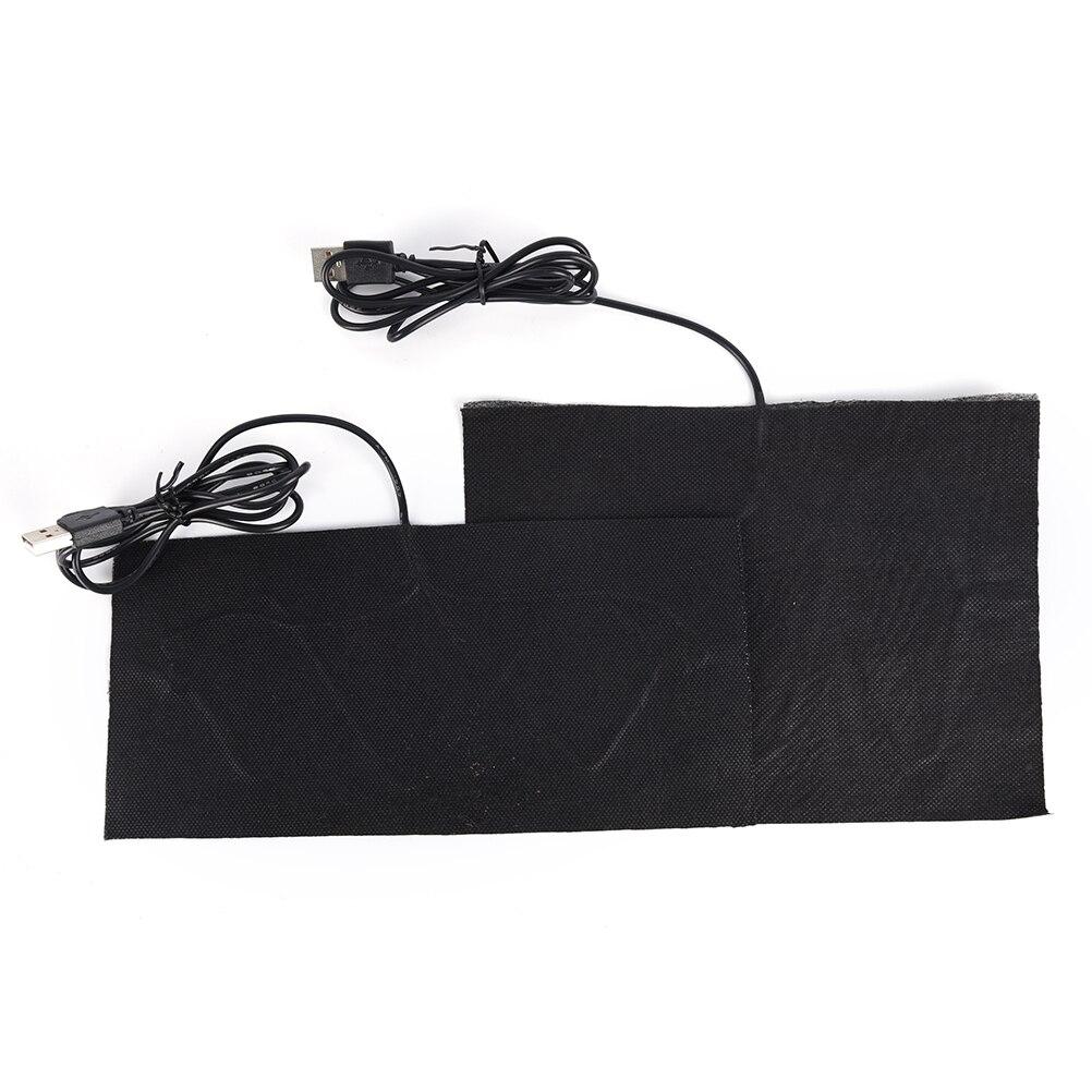 1PCS 2 Sizes 5V Carbon Fiber Heating Pad Hand Warmer USB Heating Film Electric Winter Infrared Fever Heat Mat