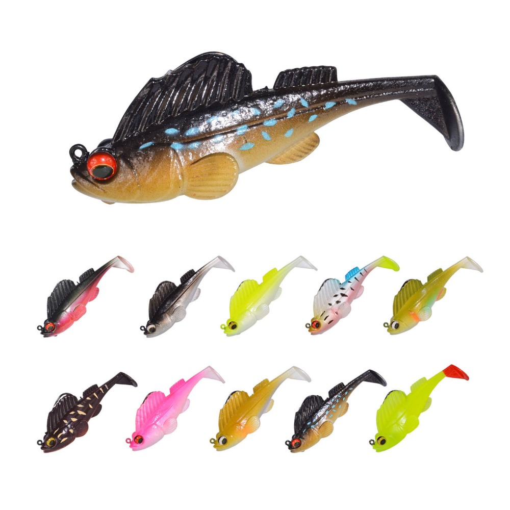 Swim Shad 75mm 13g Fishing Lure With Lead Rigged Soft Lure Softbaits Lure Sea Trout SwimBait For Bass Baitfish Lead Silicone