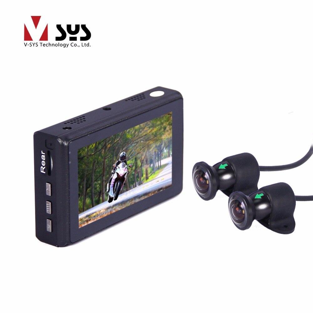 SYS 2018 date moto X2 M2F wifi enregistreur de course avec grand large angle 170 degrés caméras