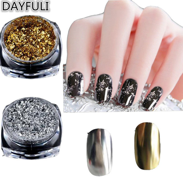 Glitter Aluminum Flakes Magic Mirror Effect Powder Sequin Nail Art