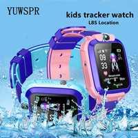 Children Tracker Watch Smart Watch LBS Multifunction Digital Wristwatch Camera Waterproof IOS Android Kids Gift Q12 TD27