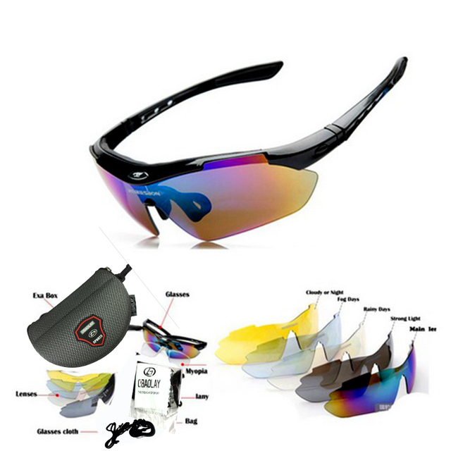 Polarized Bicycle Eyeglasses Goggles Eyewear Sport Cycling set glasses outdoor mirror Original For Men Women sunglasses ciclismo