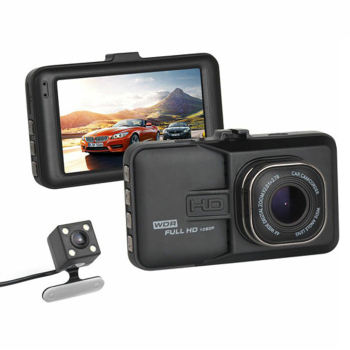 2018 Auto Dual Lens 3 Inch Dash Cam Car DVR 1080P Video Recorder Registrator with Backup Rearview Camera Cam Corder Display