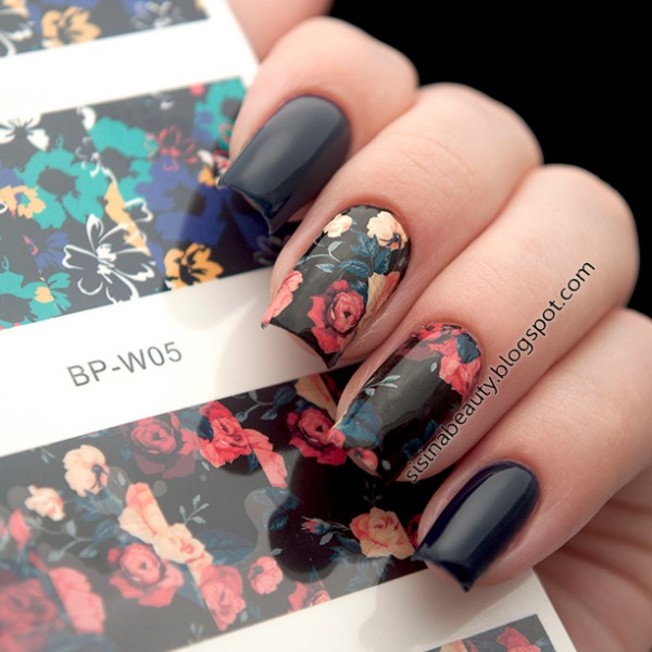 Flower Painting Nail Art Water Decals Transfer Sticker