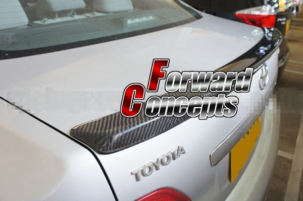 FOR CARBON FIBER 08-12 <font><b>COROLLA</b></font> NZE141 JDM REAR WING TRUNK LIP <font><b>SPOILER</b></font> image