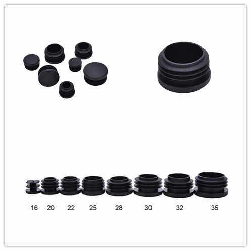 25 X Round Plastic Blanking End Caps Tube Pipe Inserts Plugs Bungs Black 32mm