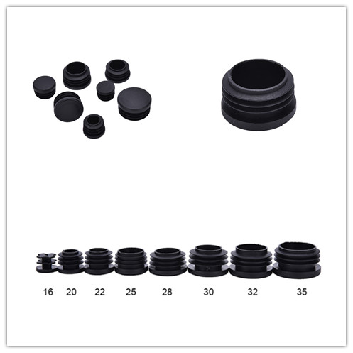 Made in Germany WHITE or BLACK 16mm Round Tube Inserts Blanking End Edge Caps