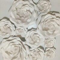 10 SZTUK Zestaw Giant Papierowe Kwiaty Na Ślub Teł Centralnym Dla Przyszłej Panny Młodej Baby Shower Party Decor Kwiat Nadgarstek Stanik