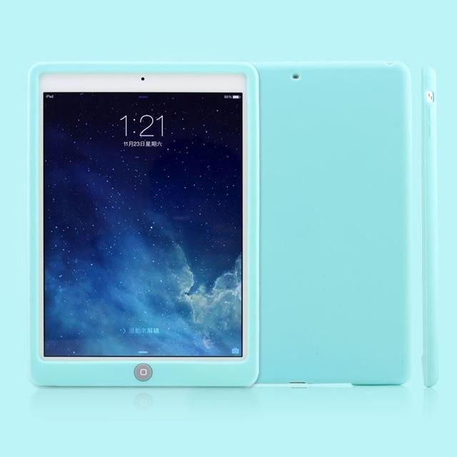 Bambini Goccia Resistenza Custodia In Silicone Per iPad Air 1 aria 2 9.7 Rugged Antiurto Morbido Della Copertura Del Respingente Per iPad Air 1/2 Tablet da 9.7 pollici
