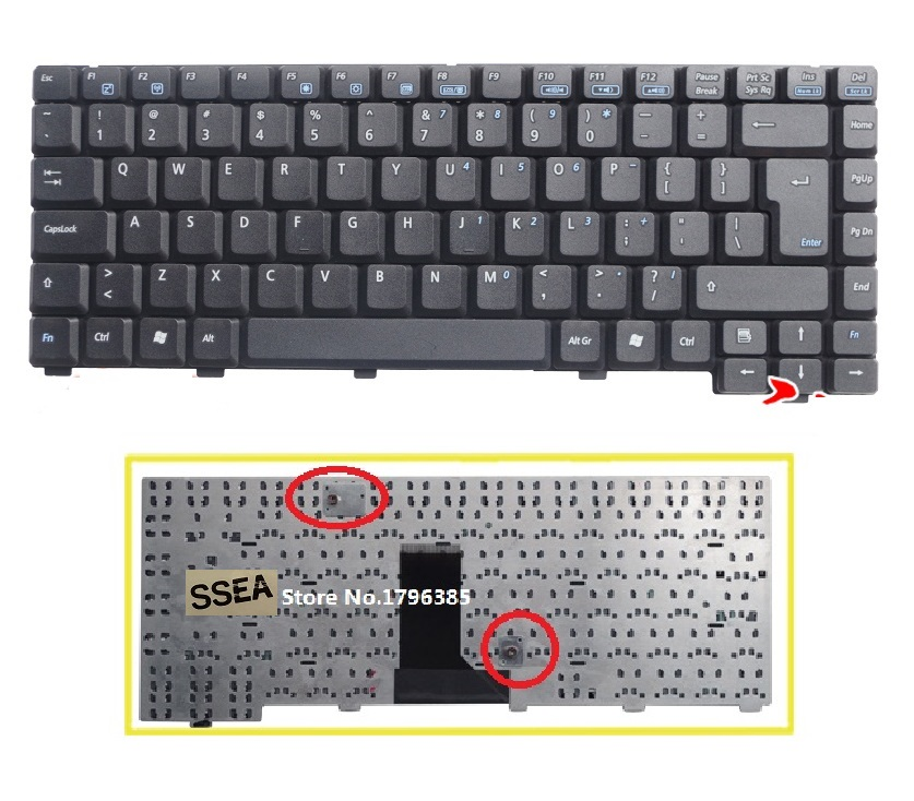 SSEA New UI Keyboard English For <font><b>ASUS</b></font> A6000 A6000V <font><b>A3000</b></font> A9 Z91 Z81 A3 A3N A3L A3G A6 A6R A6T A6J laptop image