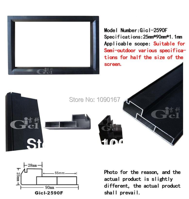 P10 Indoor LED Display Module Frame Gicl-2590F P5/P6/P7.62/P10 LED Displays Aluminum Alloy Frame