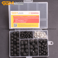 Wholesale Lava Rock Beads For Jewelry Making Beads Kit 15inches Free Box And Spacer Finding 6 8 10 12mm Free Shipping Gem-inside