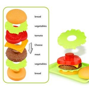 Image 3 - ילדי סימולציה מזון המבורגר נקניקיות מטבח צעצוע להגדיר להעמיד פנים לשחק חטיף מיניאטורי בורגר חינוכיים צעצועי ילדה ילד