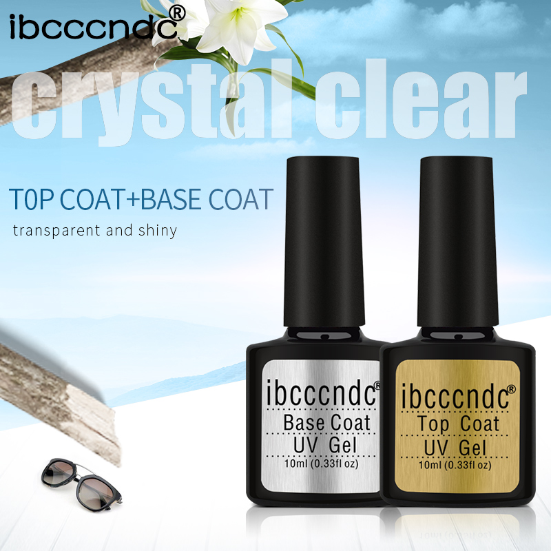 Nail Gel Polish Soak Off UV Top Base Coat Gel Polsk Primer Varig 10ml Nail Gel Lacquer Manicure Nail Art Lakk Gelpolish
