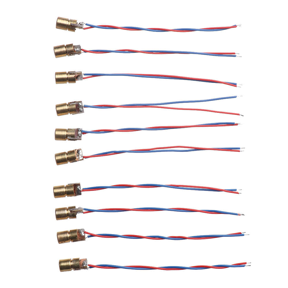 5/10 Buah Laser Dioda 650nm 6 Mm 3/5V 5 Juta Watt Power Disesuaikan Laser Dot dioda Modul Merah Tembaga Kepala Alat Aksesoris
