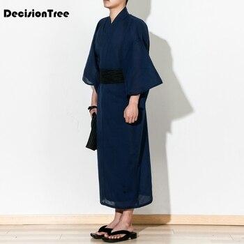 8e6c84396f4d0 2019 nuevo kimono hombres negro kimono japonés hombres samurai traje hombre yukata  kimono