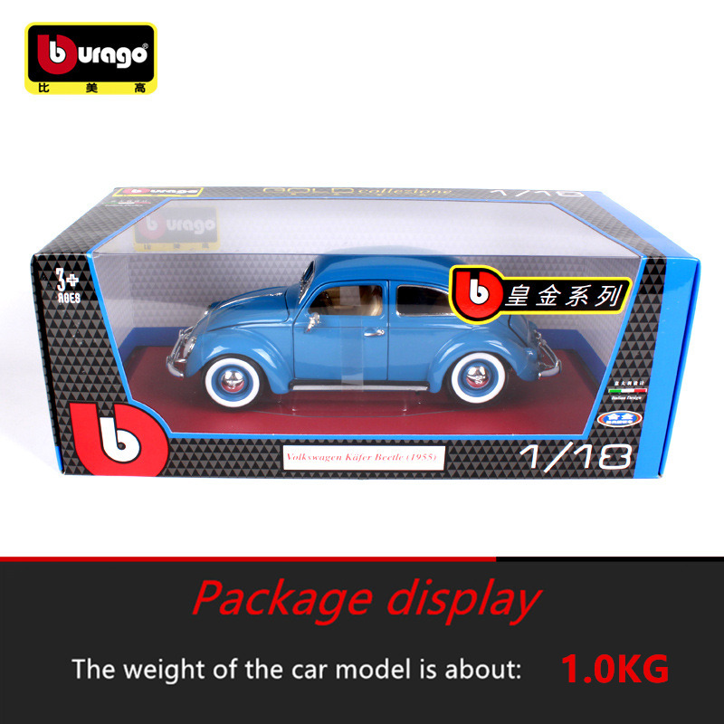 Bburago 1 18 1955 Volkswagen Beetle Simulation Alloy Retro Car Model Classic Car Model Car Decoration Men Women Collection in Diecasts Toy Vehicles from Toys Hobbies