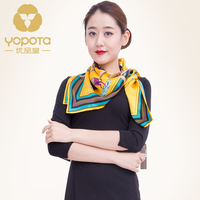 Yopota Spring Summer Autumn New Productsun Protective Naturalsilk Large Square Scarf High Quality Gift Dual Purposefree
