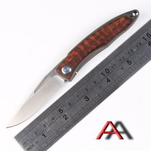 John CR Sebenza Mnandi M390 Blade wood Titanium handle folding knife Copper washers hunt camp Pocket Survival EDC Tools knives
