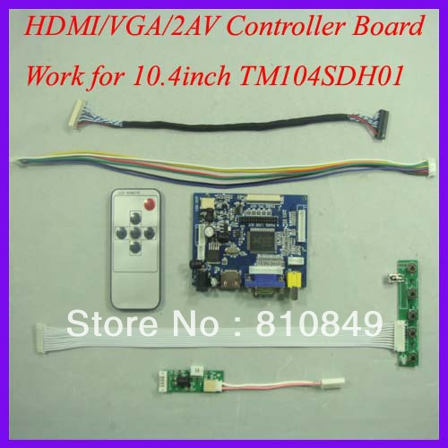 все цены на  HDMI+VGA+2AV LCD Controller board work for 10.4inch TM104SDH01 800*600 Lcd Panel  онлайн