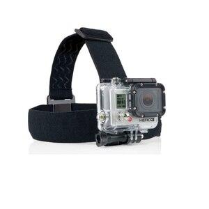 Image 5 - אלסטי מתכוונן רתם ראש רצועת חגורת הר לgopro HD גיבור 1/2/3/4/5/6/7/8 SJCAM שחור פעולה מצלמה