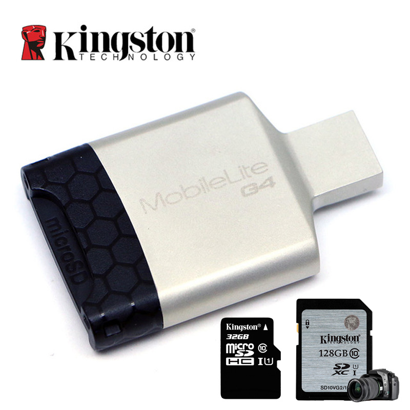 Kingston Card Reader USB 3.0 USB SD Micro SDHC/SDXC UHS-I Micro Sd Memory Card USB Adapter for Computer High Speed Card Reader все цены