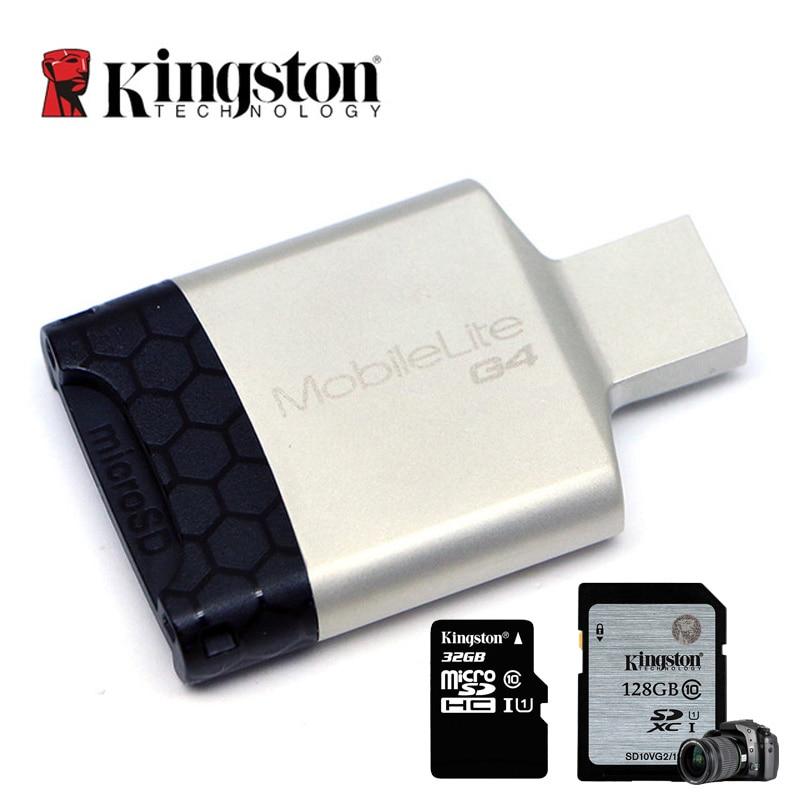 Lecteur de carte Kingston USB 3.0 USB SD Micro SDHC/SDXC UHS-I carte mémoire Micro Sd adaptateur USB pour ordinateur lecteur de carte haute vitesse