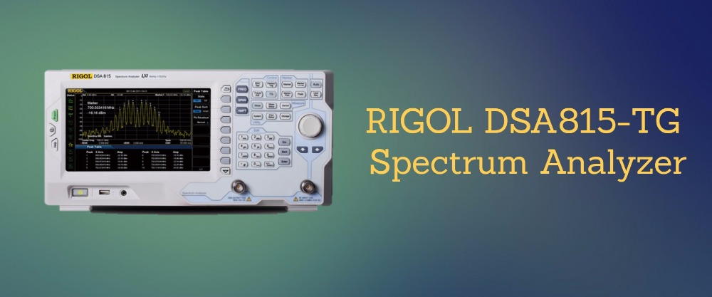 Rigol DSA815 TG 1 5 GHz Spectrum Analyzer with Tracking Generator