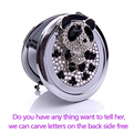 Engrave words free,wedding gift,bling rhinestone chinese panda,Mini Beauty pocket mirror,stainless steel,makeup compact mirror