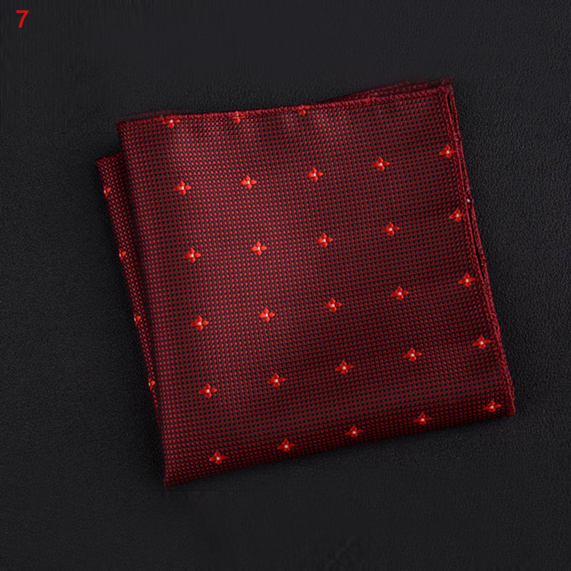 Newly Polyester Square Towel Trendy Wedding Banquet Handkerchief Gentleman Suit Pocket Hanky M99