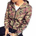 New Fashion Trend Men's Red Grey Army Camouflage Jacket Spring Autumn Slim Hooded Mens Jackets and Coats Thin Windbreaker 5XL