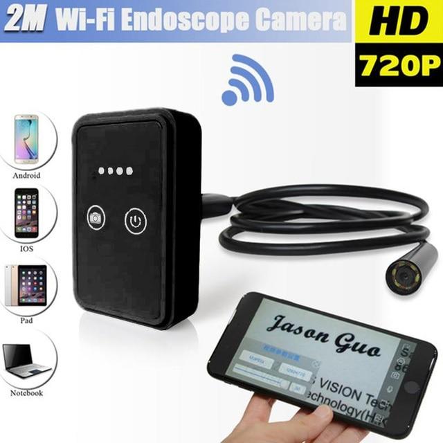 Wifi Wireless Borescope For iOS Android Endoscope Borescope 2.0MP 9mm 2m Mini Micro Camera Black