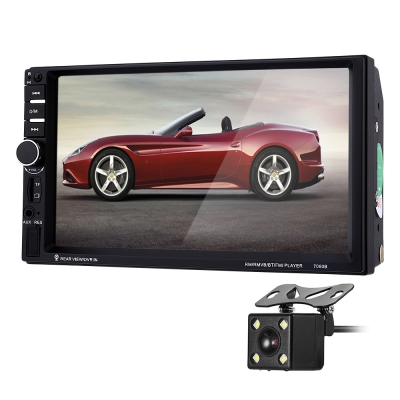 7 inch Car Video DVD Player 7060B 2din 1080P Car Radio Player with Rearview Camera Car MP5 Player Support Microphone