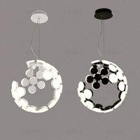 Modern Simple Iron Chandelier Nordic Lamps Creative Moon Chandelier Personalized Restaurant Bedroom Living Room Light