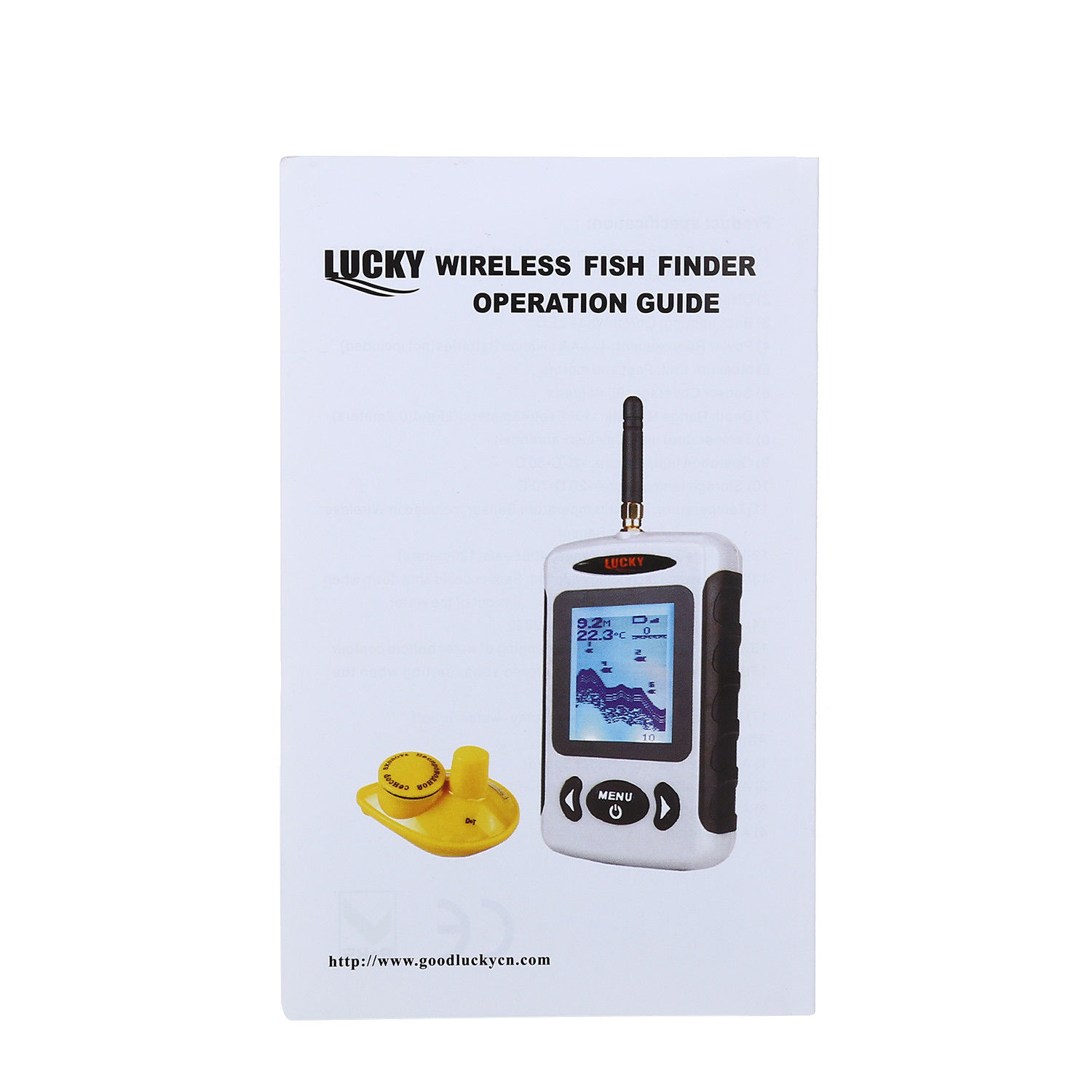Image 5 - LUCKY FFW718 Wireless Russian Fish Finder Underwater 45M/135FT White LED Sonar Depth Sounder Alarm Ocean River Lake Sea Fishing-in Fish Finders from Sports & Entertainment