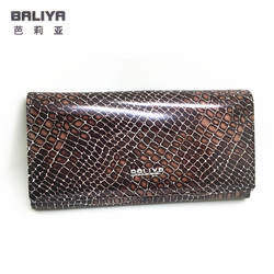 Роскошные дизайнерские женские серпантин Натуральная кожа бумажник три цвета женщины стандарт держатель кредитной карты портмоне и