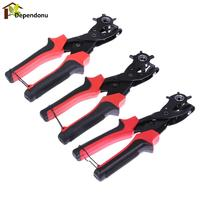 Multi Function Portable Heavy Duty Leather Hole Punch Hand Pliers Belt Holes Punched Punching Plier Hole