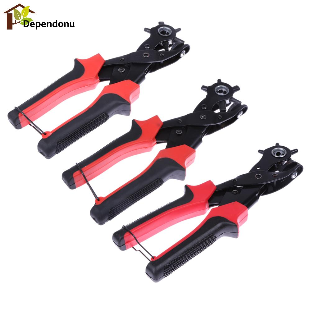 Multi-function Portable Heavy Duty Leather Hole Punch Hand Pliers Belt Holes Punched Punching Plier Hole Home hand Tool punching holes egg conveyor belt