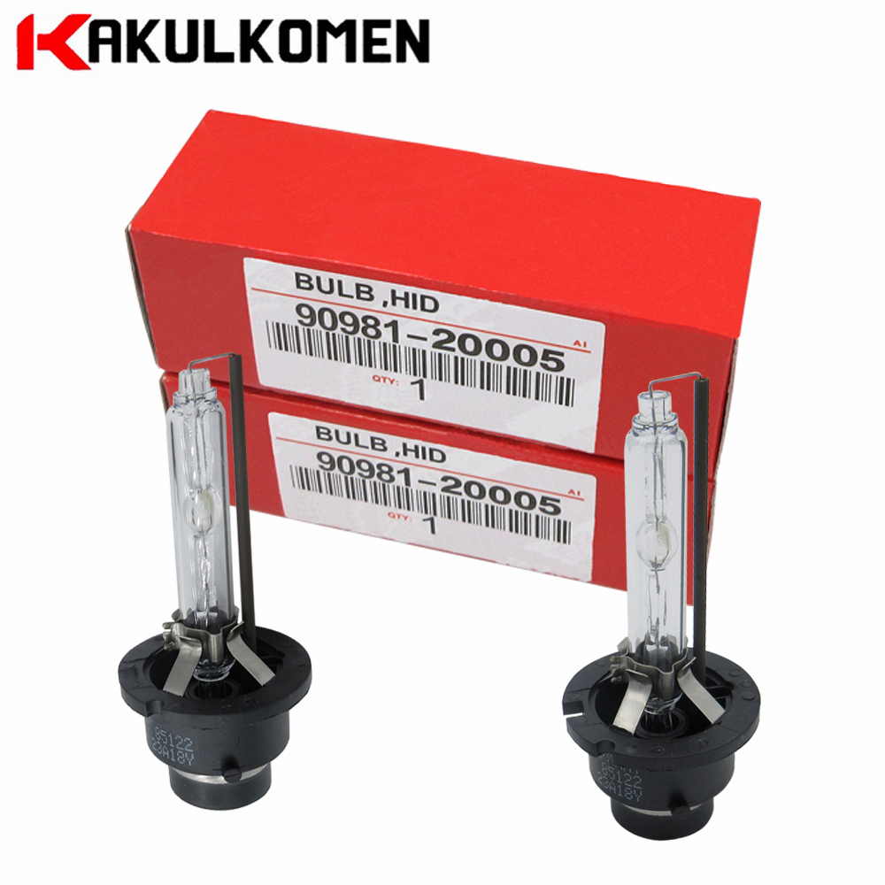 2pcs Xenon Bulb D2S D2R D4S D4R For Toyota 90981-20005 90981-20008 90981-20013 90981-20029 4300K 6000K 35W 12V car light accessories amp d2s d2c d2r hid xenon cable adaptor socket for d2 d4 d4s d4r xenon hid headlight relay wiring harness