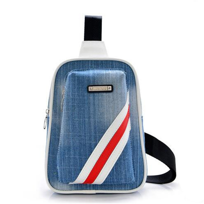 Han edition tide chest bag man waist bag sell like hot cakes one shoulder inclined down stripe chest package phone zero wallet