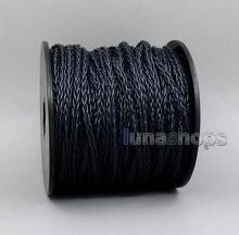 Ln006142 azul escuro litz 8 núcleos occ prata banhado a granel fio para diy shure fostex qdc 1964 ue westone fone de ouvido cabo
