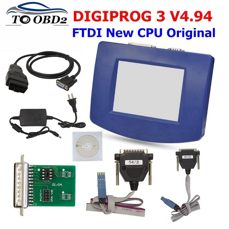 FTDI Digiprog3 Full set obd version DIGIPROG III V4 94 Odometer programmer Mileage Correction Tool for