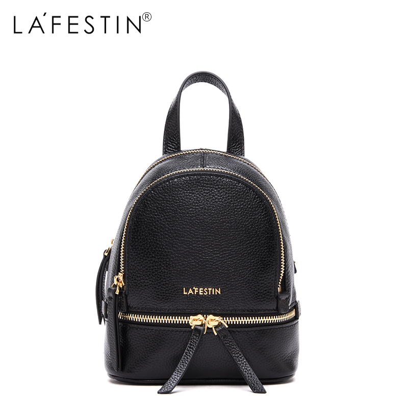 LAFESTIN Brand Leather Backpack Women Mini Backpacks Casual Teenager Girls High Quality School Bags Female Mochilas