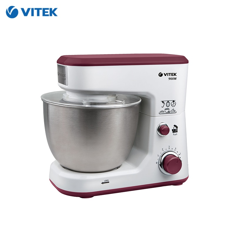Food processor Vitek VT-1433 mixer planetary dough bowl  Kitchen Machine Planetary Mixer with bowl double ear bowl with lid