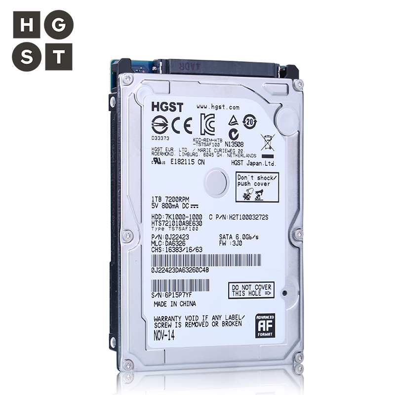 HGST 2.5 Internal Laptop Hard Drives disk 1tb SATAIII HDD 1TB 7200RPM 32M(1000GB) for Notebook HTS721010A9E630