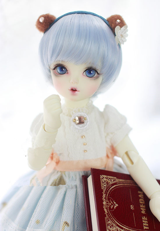 New! Doll Wigs Water Mist Blue Short Hair High Temperature Wire Available For 1/8 1/6 1/4 1/3 Sd Bjd Doll Accessories
