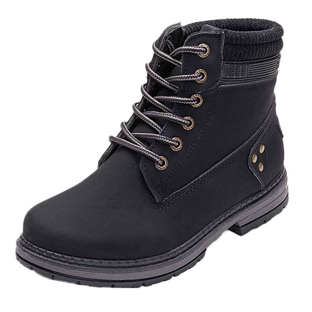 Women Boots Solid Lace Up Casual Ankle Boots Round Toe Shoes Student Snow Boots Classic Winter Warm Ladies Shoes T## 10
